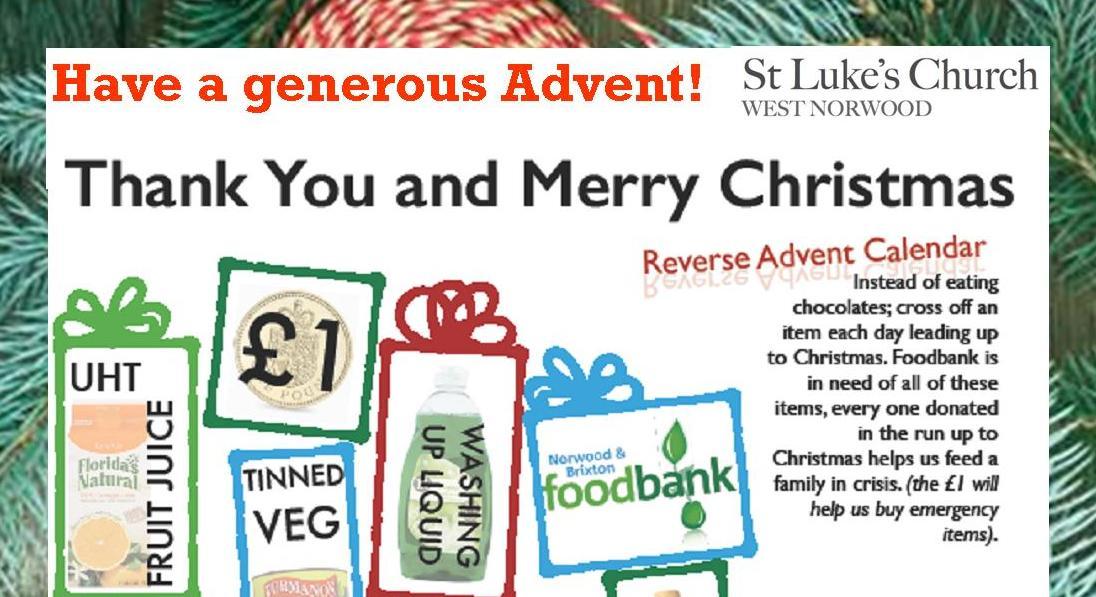 Generous Advent